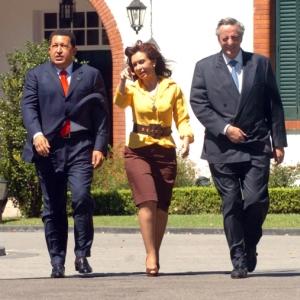 Cristina y sus asesores.